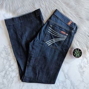 7FAM DOJO Trouser Jean in New York Dark 25